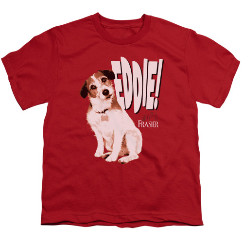Image for Frasier Youth T-Shirt - Eddie