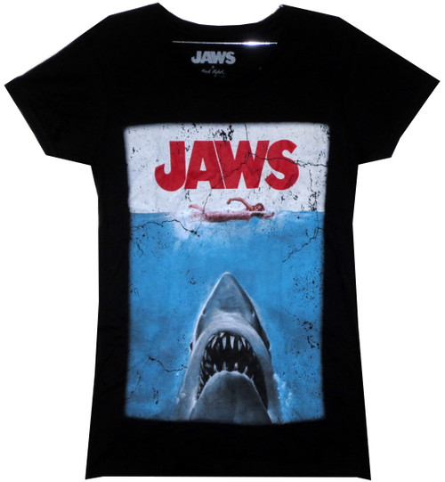 Image for Jaws Girls T-Shirt - Classic Poster