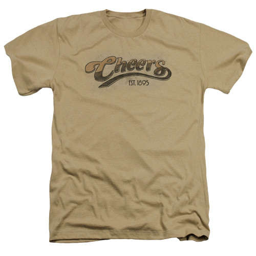 Image for Cheers Heather T-Shirt - Watercolor Logo