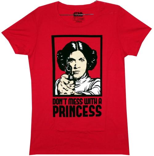 Star Wars Girls T-Shirt - Don't Mess With a Princess