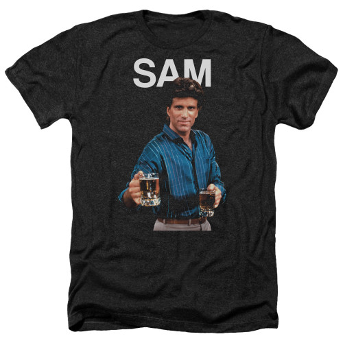 Image for Cheers Heather T-Shirt - Sam Malone