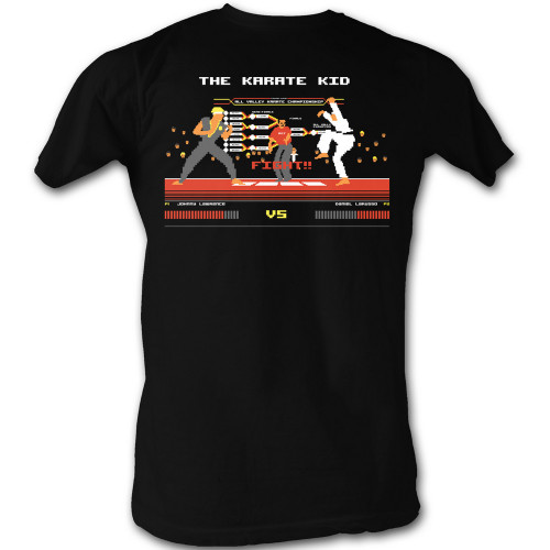 Image for Karate Kid T Shirt - 8 Bit Fight