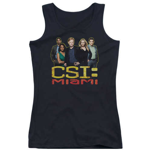 Image for CSI Miami Girls Tank Top - The Cast in Black