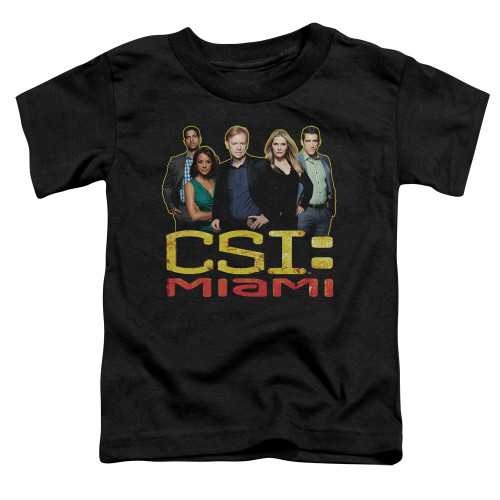 Image for CSI Miami Toddler T-Shirt - The Cast in Black