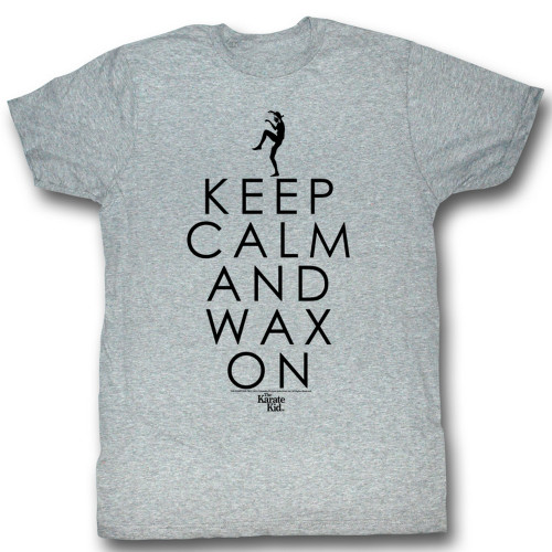 Image for Karate Kid T Shirt - Keep Calm and Wax On