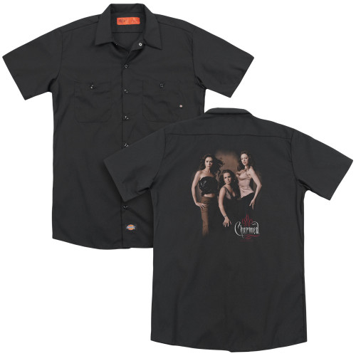 Image for Charmed Dickies Work Shirt - Three Hot Witches
