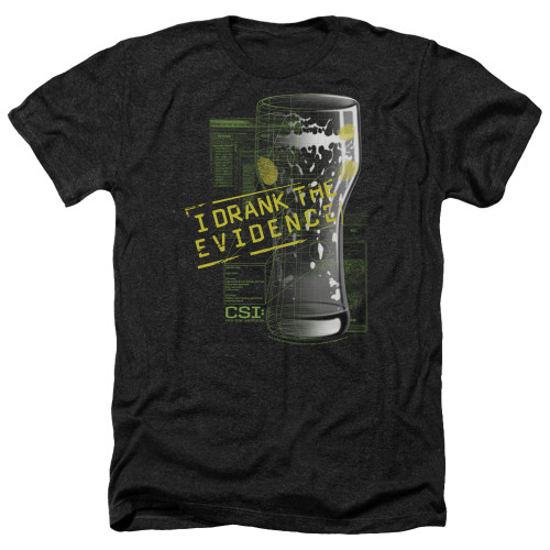 Image for CSI Heather T-Shirt - I Drank the Evidence