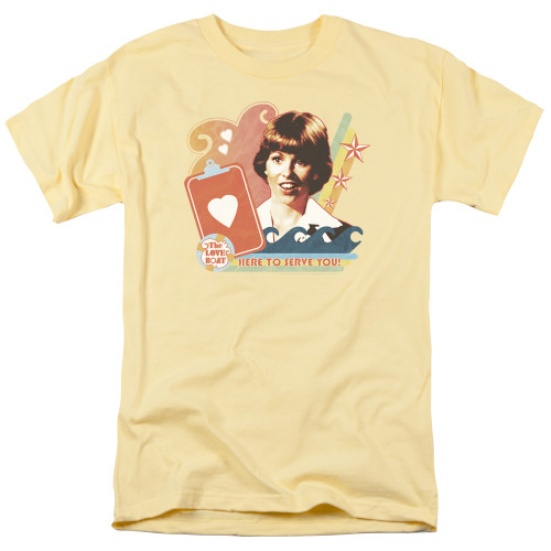 Image for The Love Boat T-Shirt - Here to Serve