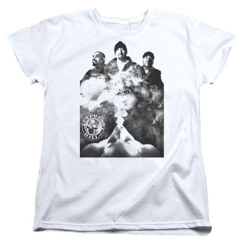 Image for Cypress Hill Womans T-Shirt - Monochrome Smoke