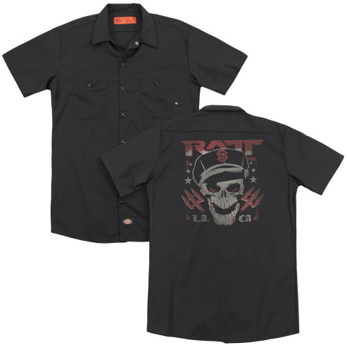 Image for Ratt Dickies Work Shirt - Skull and Tridents