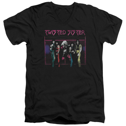 Image for Twisted Sister V Neck T-Shirt - Neon Gate