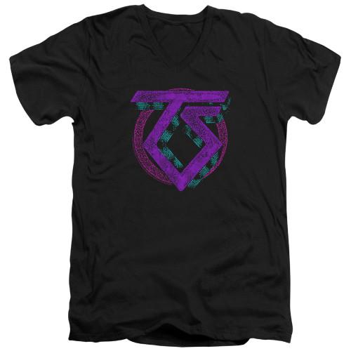 Image for Twisted Sister V Neck T-Shirt - Symbol