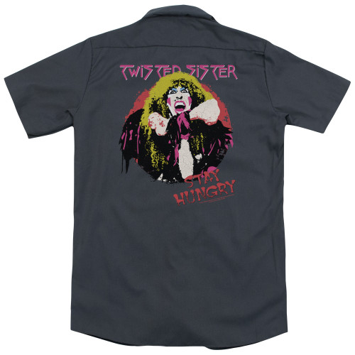 Back image for Twisted Sister Dickies Work Shirt - Stay Hungry