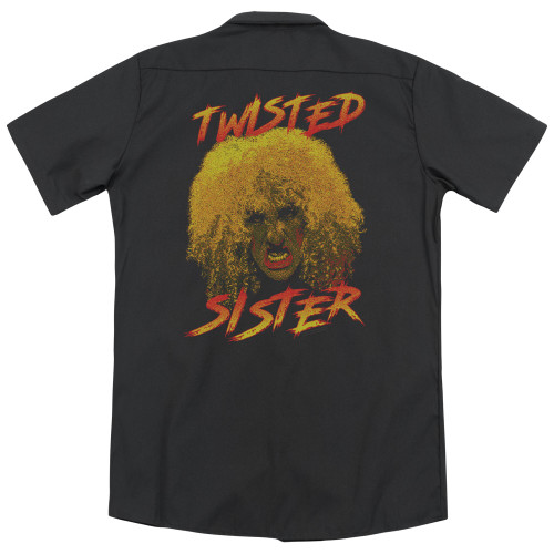 Back mage for Twisted Sister Dickies Work Shirt - Twisted Scream