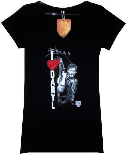 Image for The Walking Dead Girls T-Shirt - I Heart Darryl