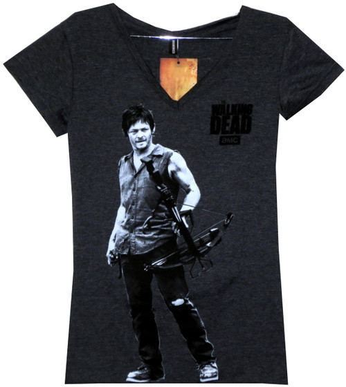 Image for The Walking Dead Girls T-Shirt - Darryl with Crossbow
