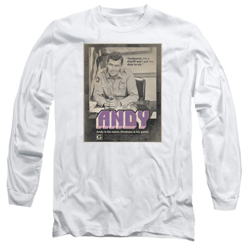 Image for Andy Griffith Show Long Sleeve T-Shirt - Andy