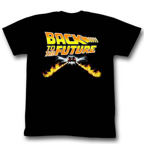 Image for Back to the Future T-Shirt - Classic Tire Tracks