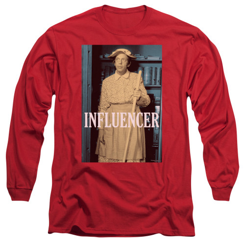 Image for Andy Griffith Show Long Sleeve T-Shirt - Barney Influencer