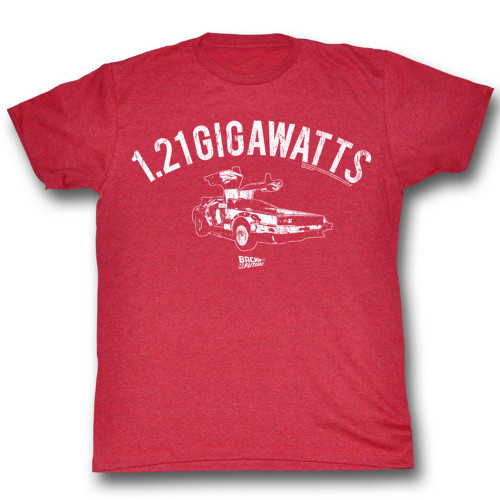 Image for Back to the Future T-Shirt- 1.21 Gigawatts
