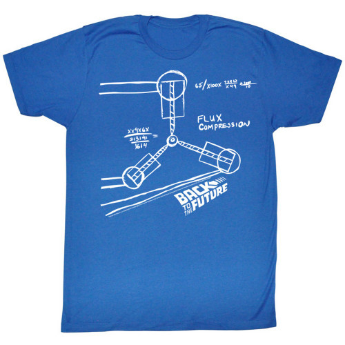 Image for Back to the Future T-Shirt - Flux Capacitor Sketch