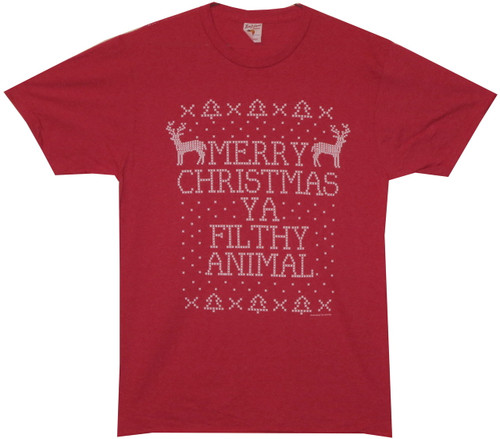 Image for Home Alone Merry Christmas Ya Filthy Animal T-Shirt