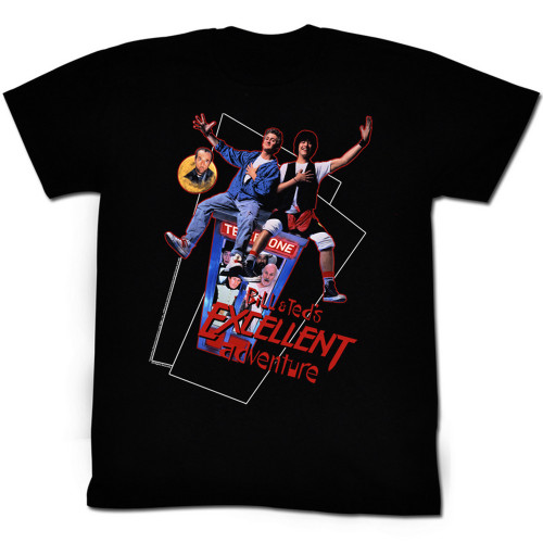 Image for Bill & Ted's Excellent Adventure T-Shirt - Flying