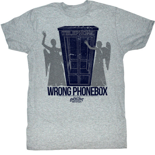 Image for Bill & Ted's Excellent Adventure T-Shirt - Wrong Phonebox