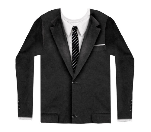 Image for 1960's Suit Costume Sublimated Long Sleeve T-Shirt