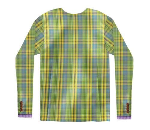 Image Closeup for Plaid Sports Coat Costume Sublimated Long Sleeve T-Shirt