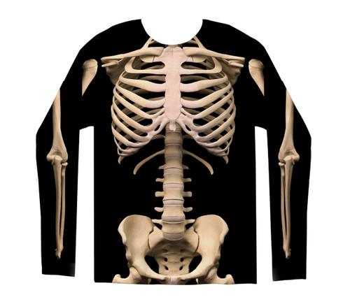 Image for Skeleton Costume Sublimated Long Sleeve T-Shirt