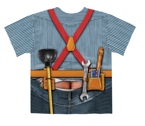 Image Closeup for Plumber Costume Sublimated T-Shirt