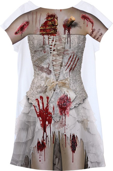 Image Closeup for Zombie Bride Girls Sublimated Dress