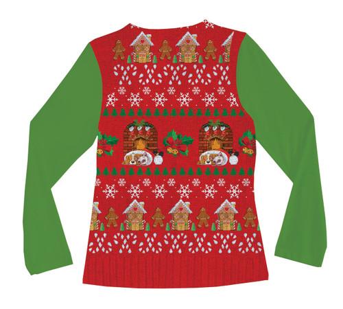 Image Closeup for Ugly Xmas Vest Ladies Sublimated T-Shirt