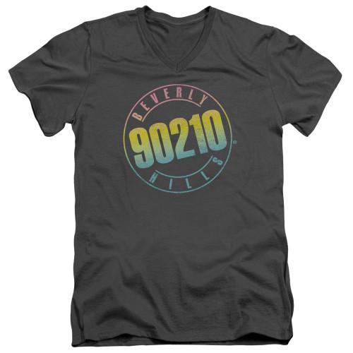 Image for Beverly Hills, 90210 T-Shirt - V Neck - Color Blend Logo