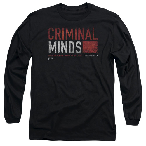 Image for Criminal Minds Long Sleeve T-Shirt - Title Card