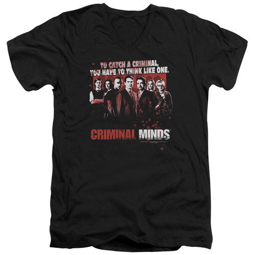 Image for Criminal Minds T-Shirt - V Neck - Think Like One