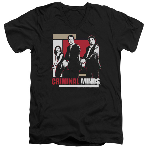 Image for Criminal Minds T-Shirt - V Neck - Guns Drawn