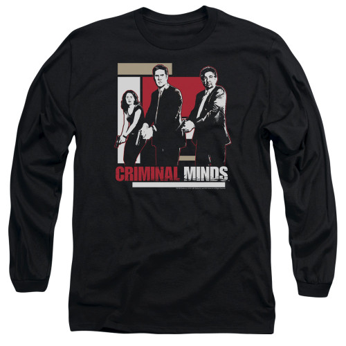 Image for Criminal Minds Long Sleeve T-Shirt - Guns Drawn