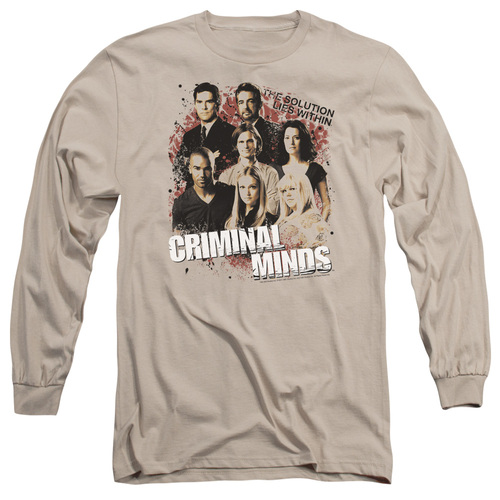 Image for Criminal Minds Long Sleeve T-Shirt - The Solution Lies Within