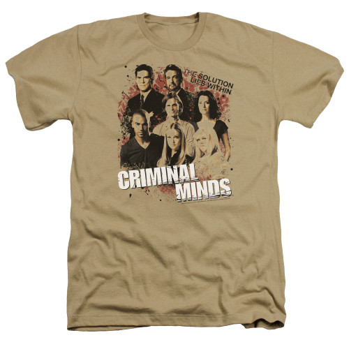 Image for Criminal Minds Heather T-Shirt - The Solution Lies Within