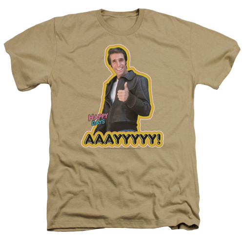 Image for Happy Days Heather T-Shirt - Aaa109yy