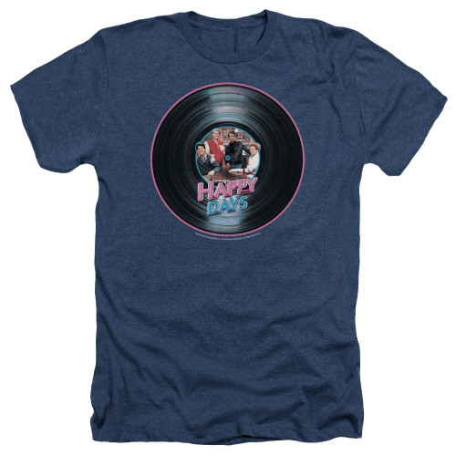 Image for Happy Days Heather T-Shirt - On the Record