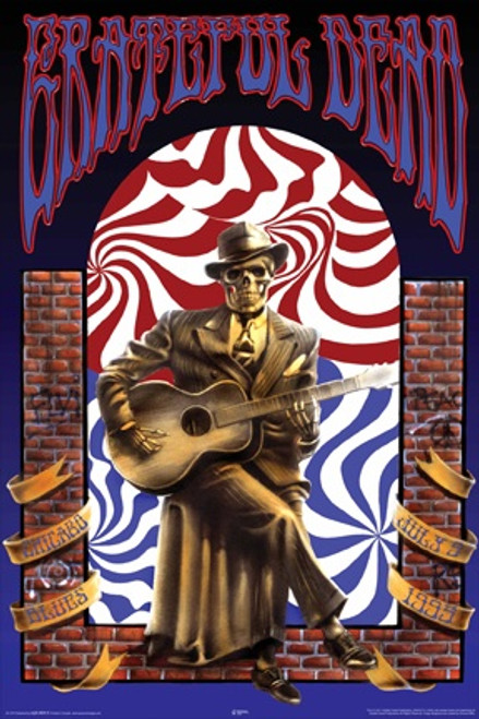Image for Grateful Dead Poster - Skeleton