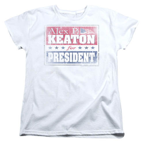 Image for Family Ties Woman's T-Shirt - Alex for President