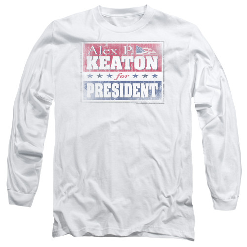 Image for Family Ties Long Sleeve T-Shirt - Alex for President