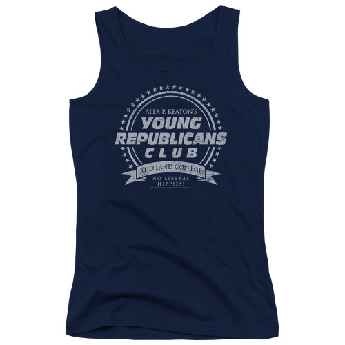 Image for Family Ties Girls Tank Top - Young Republicans Club