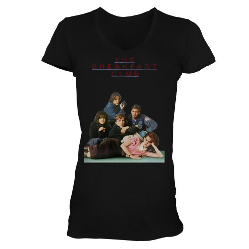 Image for The Breakfast Club Poster V-Neck Girls T-Shirt