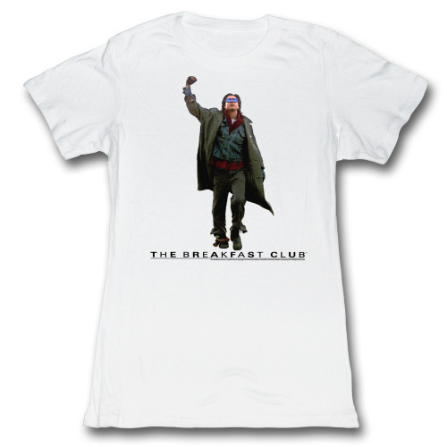 Image for The Breakfast Club Fist Pump Cut Out Girls T-Shirt