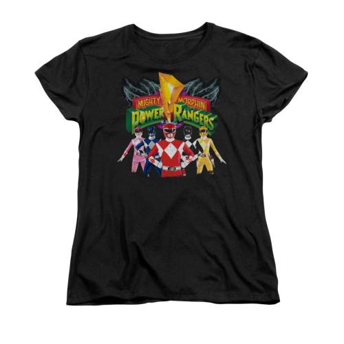 Image for Power Rangers Woman's T-Shirt - Rangers Unite
